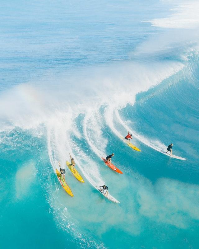 les sports du surf